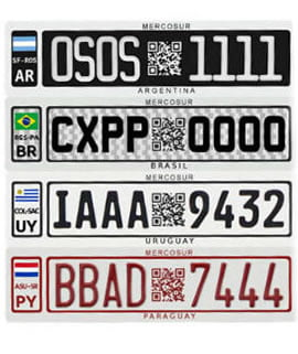 placas unificadas mercosul