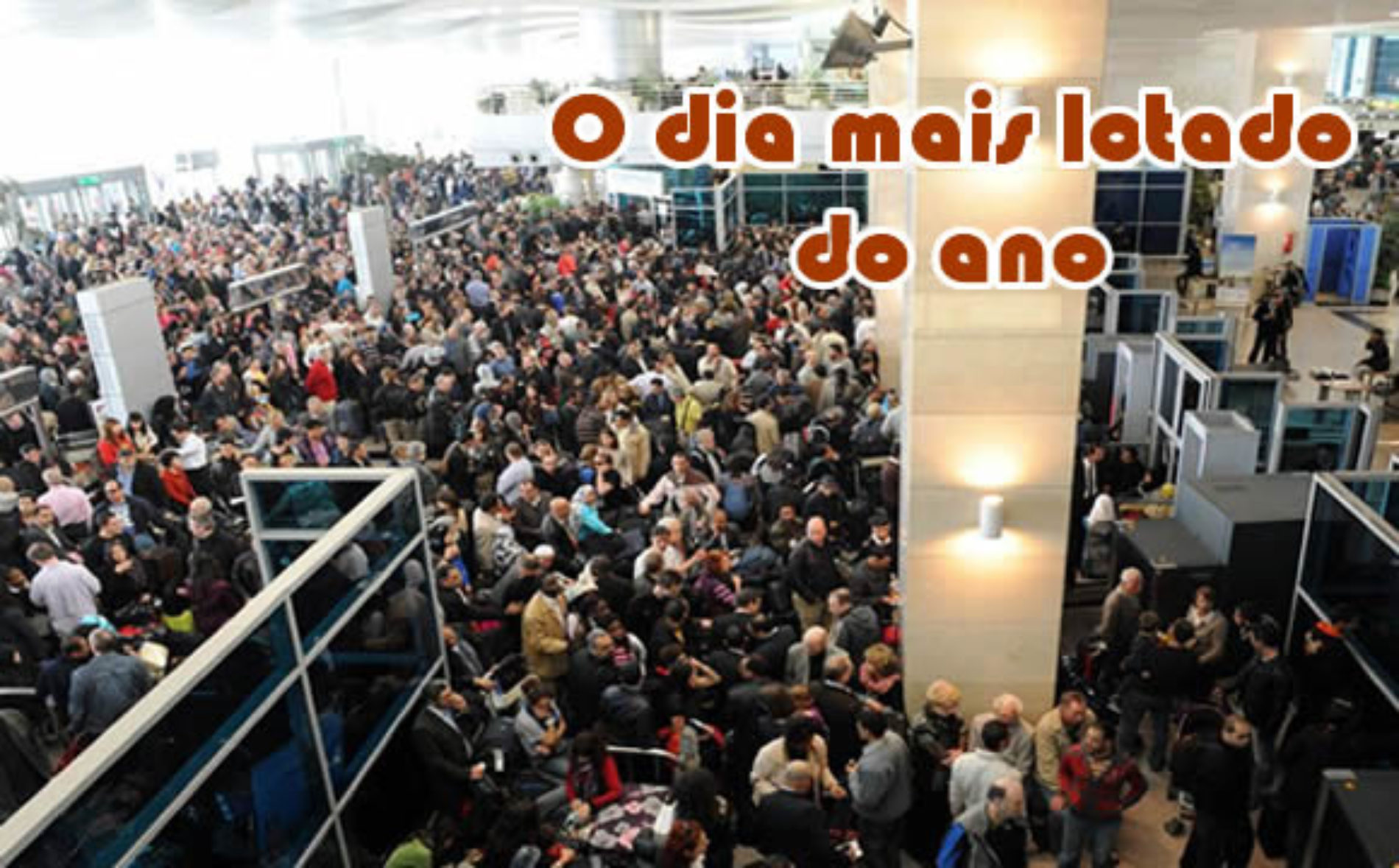 O dia mais movimentado do ano nos aeroportos