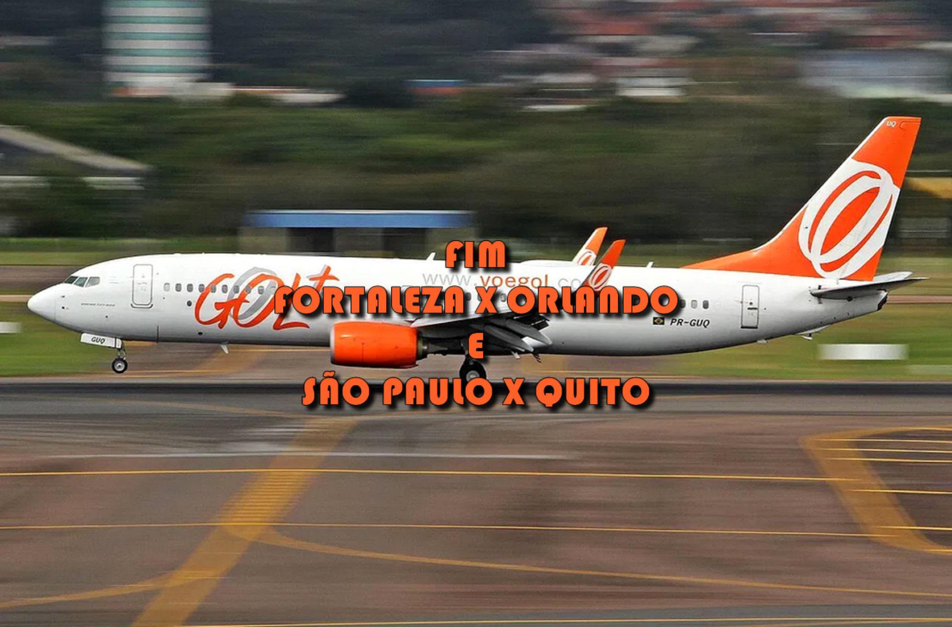 Voos GOL para Quito e Orlando ficam suspensos a partir de abril